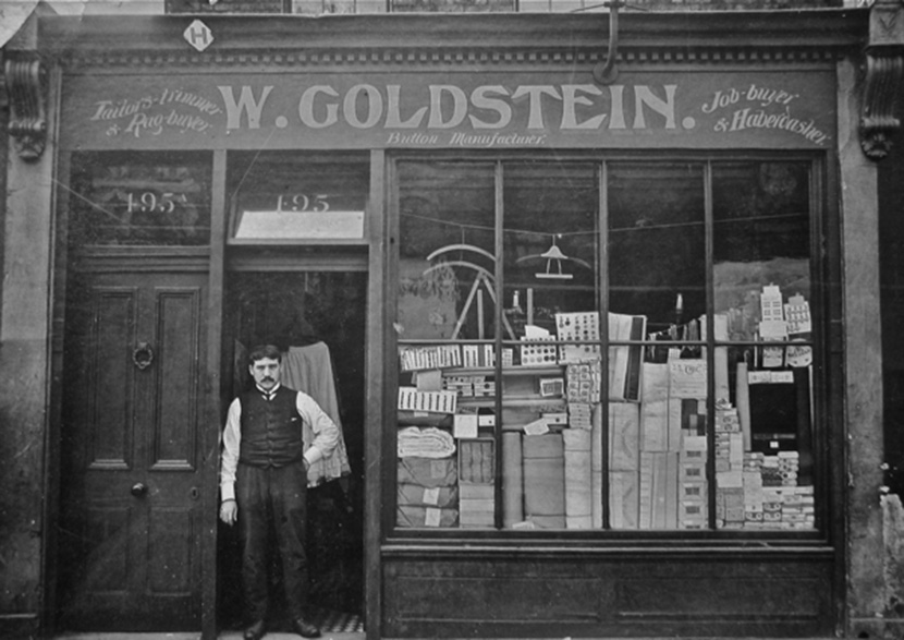 William Goldstein's Haberdashery in 1906 before it was renamed William Gee