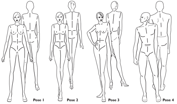 Buy fashion figure templates and tools online at for Textiles body templates