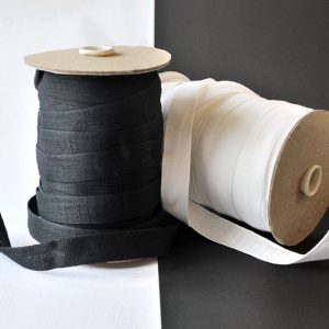 Cotton Tape in Black and White - William Gee