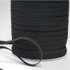 Flat Elastic 6mm 8 cord in black by William Gee