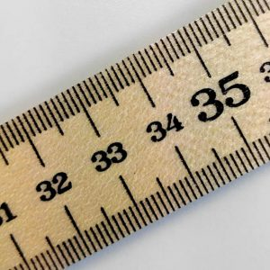 Government Stamped Wooden Ruler Metre Stick - inches and centimetres - William Gee