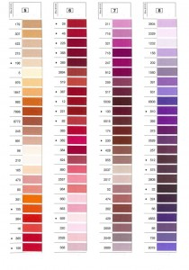 Gutermann Mara Shade Card 2
