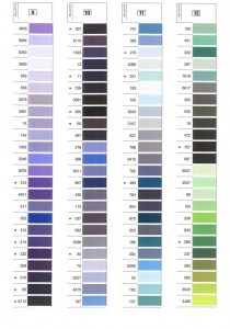 Gutermann Mara Shade Card 3