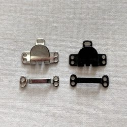 Mini Skirt Hook and Bars in Nickel Plated and Black - William Gee UK