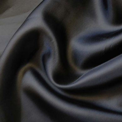 Nylon Taffeta Lining in Black - William Gee