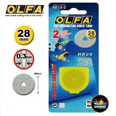 Olfa 28mm Spare Blades for Rotary Cutters - William Gee uk