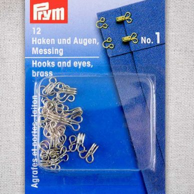 Prym Hook and Eyes Brass