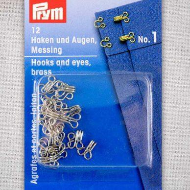 Prym Hook and Eyes Brass