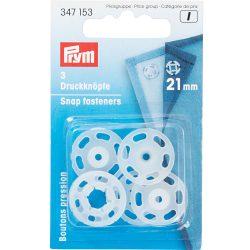 Prym Transparent Plastic Snap Fasteners - William Gee UK