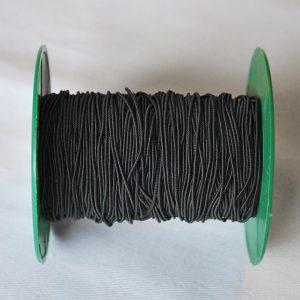 Round Elastic in Black - 1mm