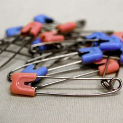 Stainless Steel Nappy Pins with Locking Cap