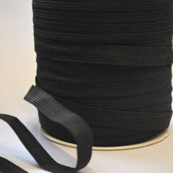 Flat Elastic 11mm (16 Cord) in Black by William Gee