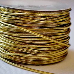 Metallic Gold Elastic 20m
