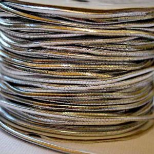 Metallic Silver Elastic 20m