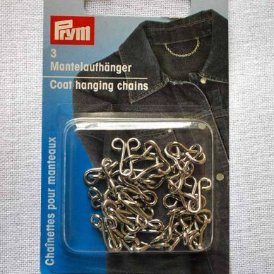 Prym Coat Hanging Chains - Silver