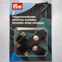Prym Shoulder Strap Retainers - Black