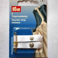 Prym Shoulder Strap Retainers - White