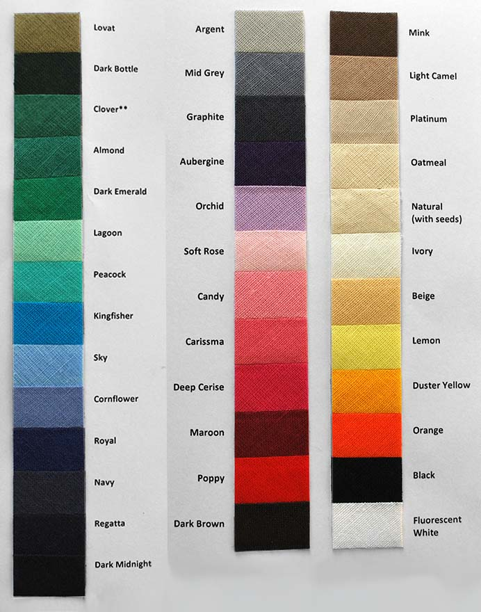 Bias Binding Cotton Shade Card