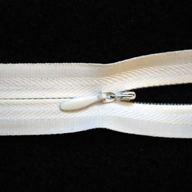 Invisible No. 3 Closed Ended Unbranded Zip - White