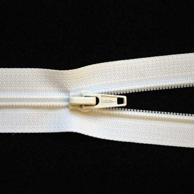 Nylon No. 5 Open Ended Unbranded Zip - White