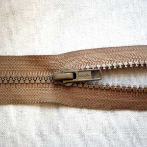 Plastic No. 5 Open Ended Unbranded Zip - Beige