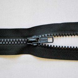 Plastic No. 5 Open Ended Unbranded Zip - Black