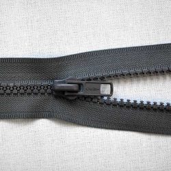 Plastic No. 5 Open Ended Unbranded Zip - Grey