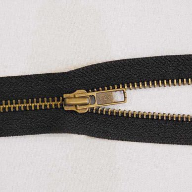 YKK-RGKBOR56-No.-5-Open-Ended-Antique-Zip-Brass