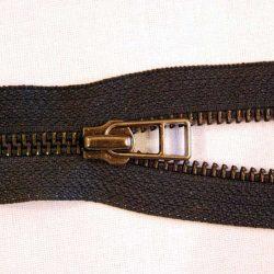 YKK RGKOR56 No. 5 Open Ended Oxidised Paper Clip Slider Zip - Black