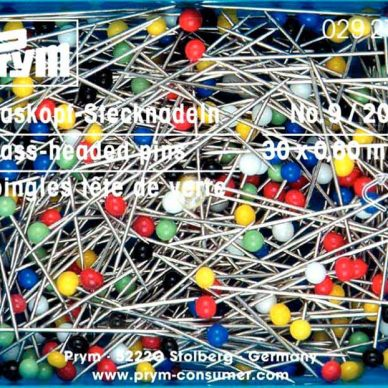 Prym Glass Headed Pins - 20grm