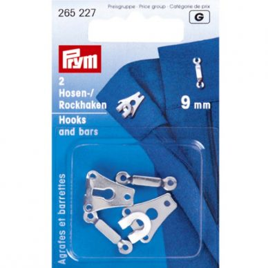 Prym Hook and Bars 9mm Nickel Plated 265227 - William Gee UK