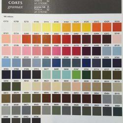 Gramax 80 Colour Shade Card