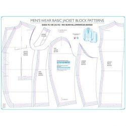 Menswear Basic Formal Jacket Block Pattern - Chart 3