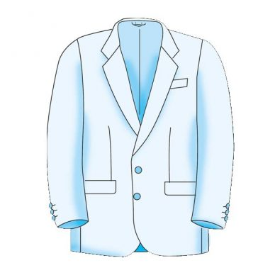 Menswear Basic Formal Jacket Block Pattern - Figure 3