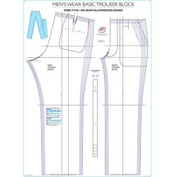 Menswear Trouser with Pockets Block - Chart 4