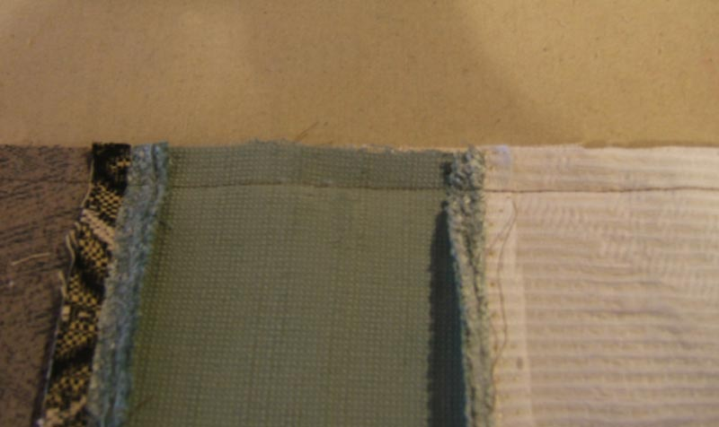 Press the seams flat then clip away the corner pieces inside the seam allowance