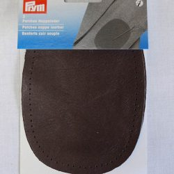 Prym Nappa Leather Patches - Dark Brown