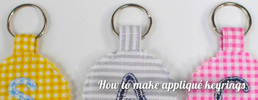 How to make applique keyrings