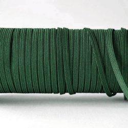 Flat Elastics 5mm - Dark Green / Bottle Green