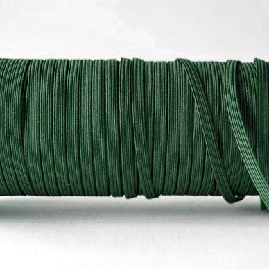 Flat Elastics 5mm - Dark Green / Bottle Green
