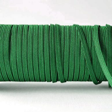 Flat Elastics 5mm - Emerald Green