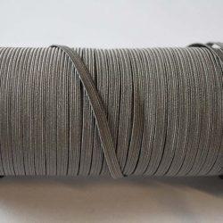 Flat Elastics 5mm - Grey