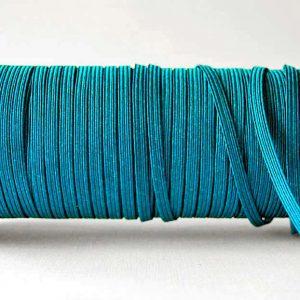 Flat Elastics 5mm - Sky blue