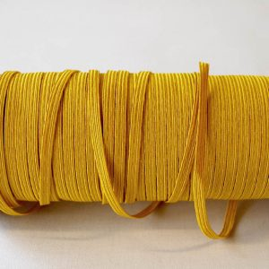 Flat Elastics 5mm - Yellow