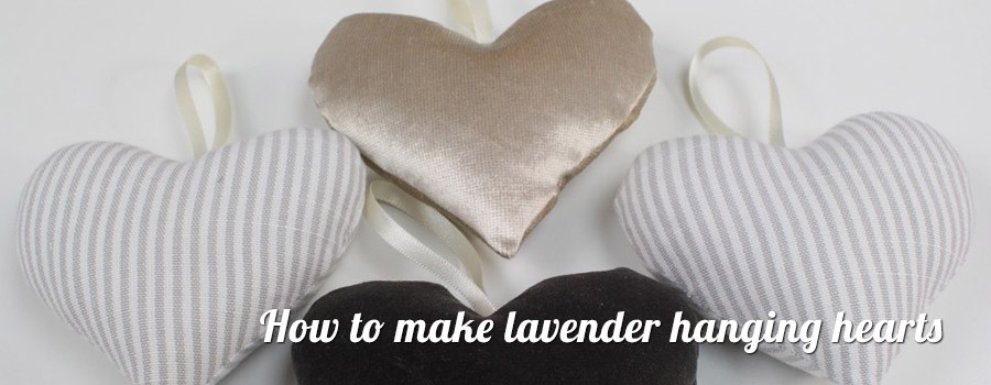 How to make Lavender Hanging Hearts