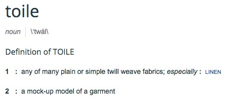 toile dictionary