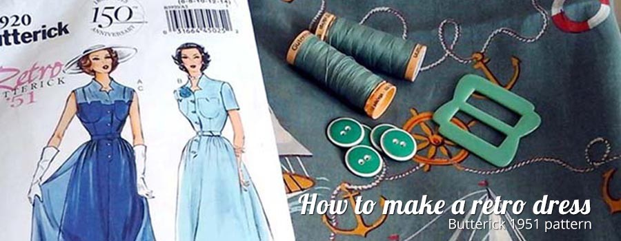 how to make a retro dress using Butterick Pattern 1951