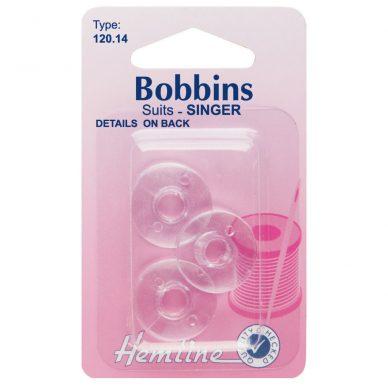 Hemline Domestic Bobbins – Plastic - Singer Class 66K - William Gee