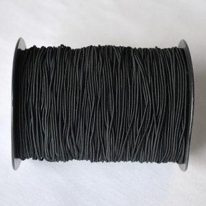Round Elastic in Black - 1.5mm