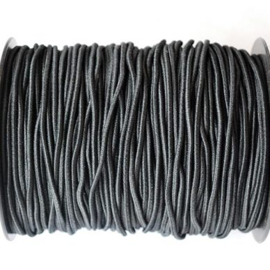Round Elastic in Black - 2mm